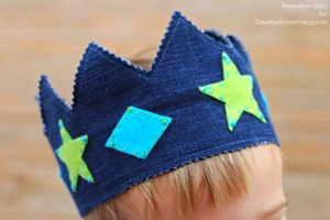 DIY Upcycled Denim Crown