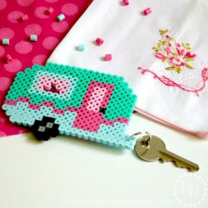 retro-camper-perler-keychain