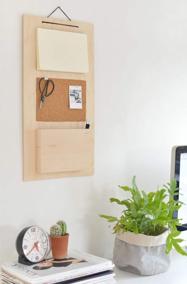 diy wood desk organiser