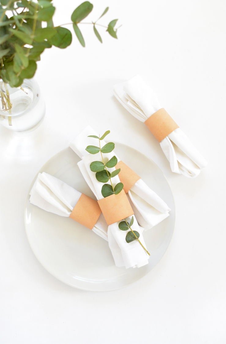 diy leather napkins